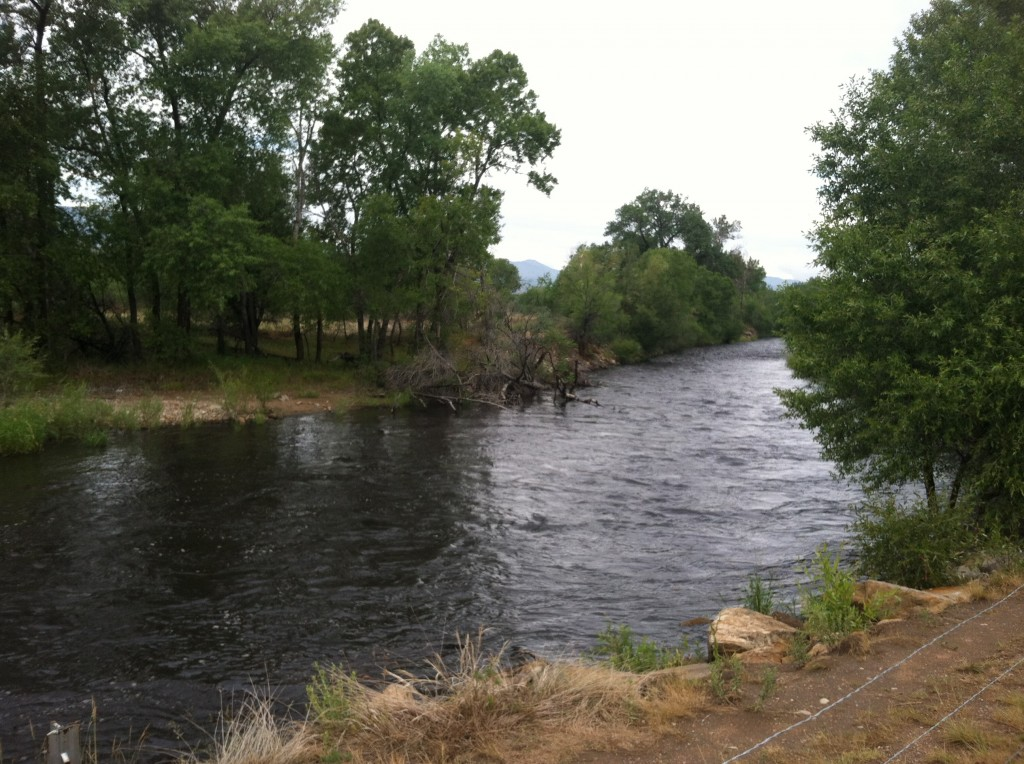 Cache la Poudre River runs black with High Park soot after flooding rain
