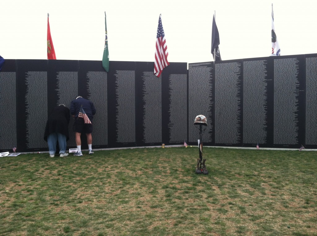 Vietnam War Memorial Wall on Veterans Day