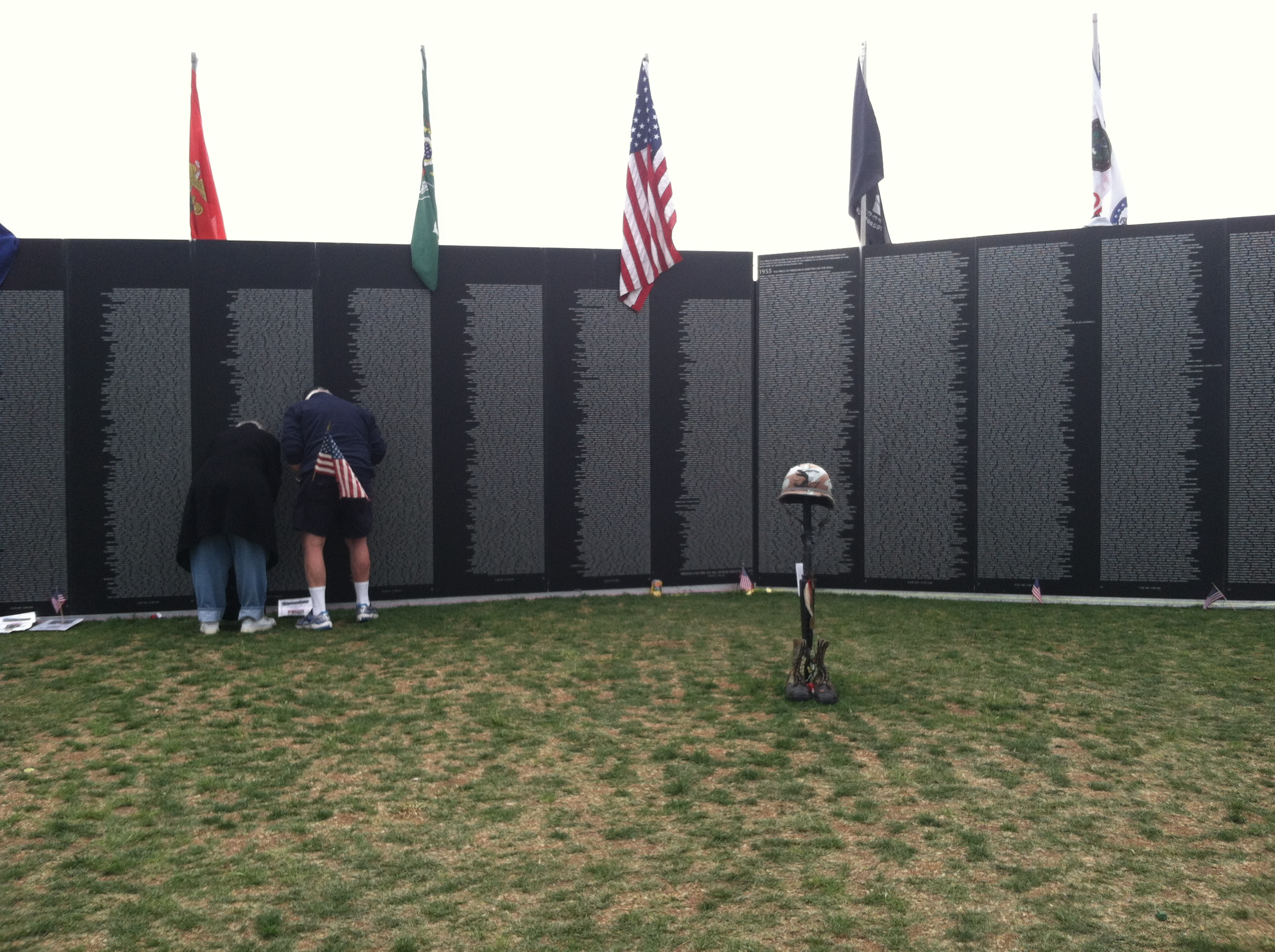 middle of the Vietnam Wall