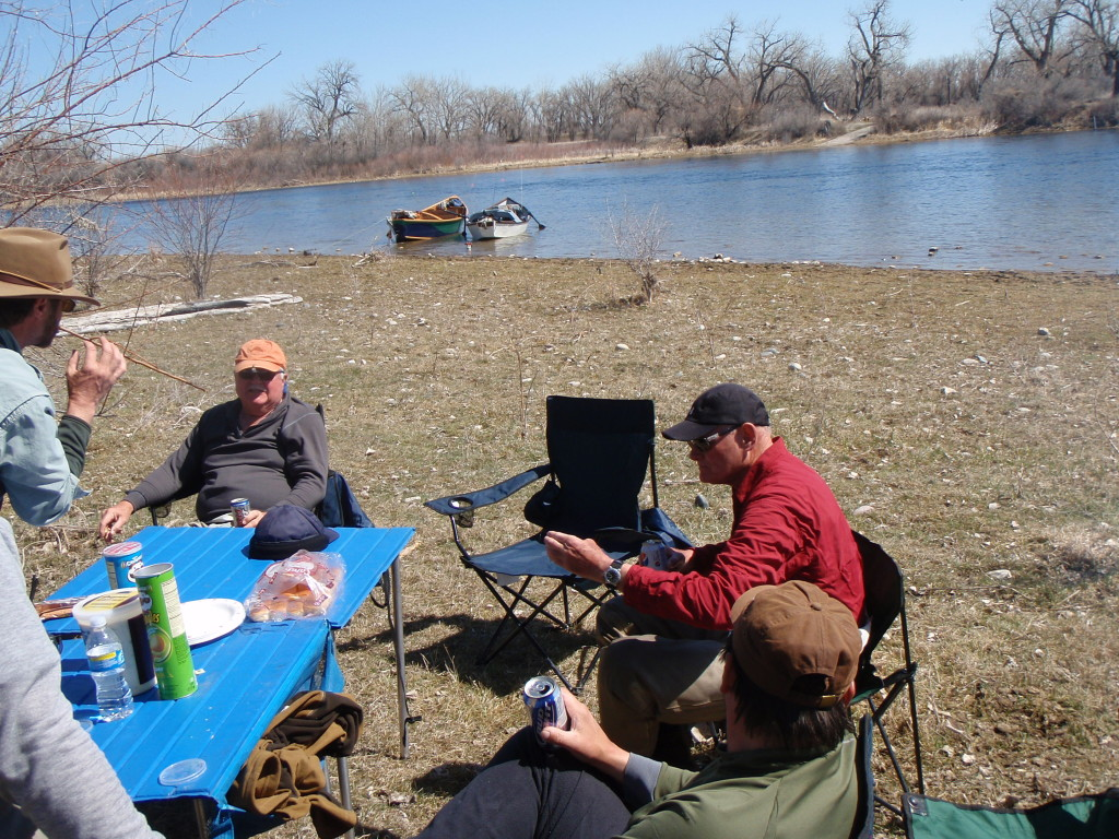 lunch on the Bighorn