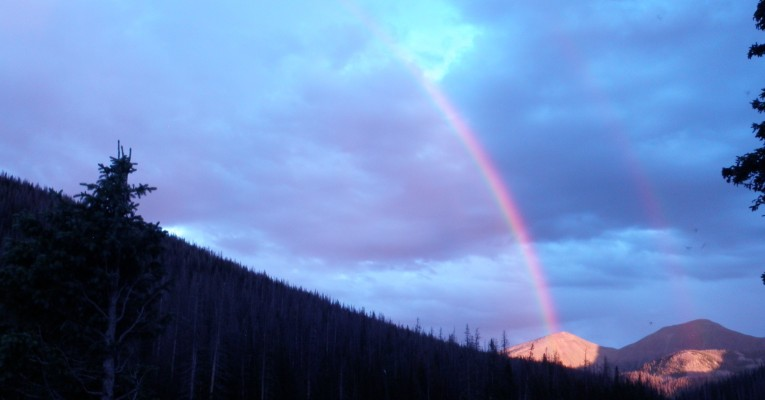 Natural High of Rainbow in the Rockies